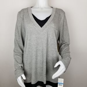 One World Live and Let Live XL Silver Heather Top
